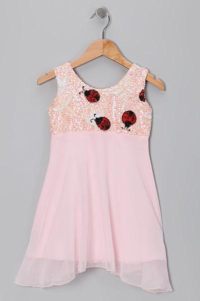 PINK-LADY-BUG-SLEEVELESS-DRESS